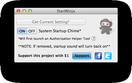 StartNinja para Mac OS X