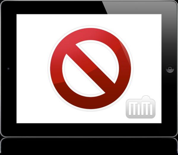 iPad proibido