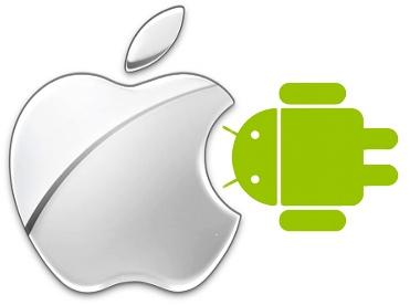 Apple comendo Android