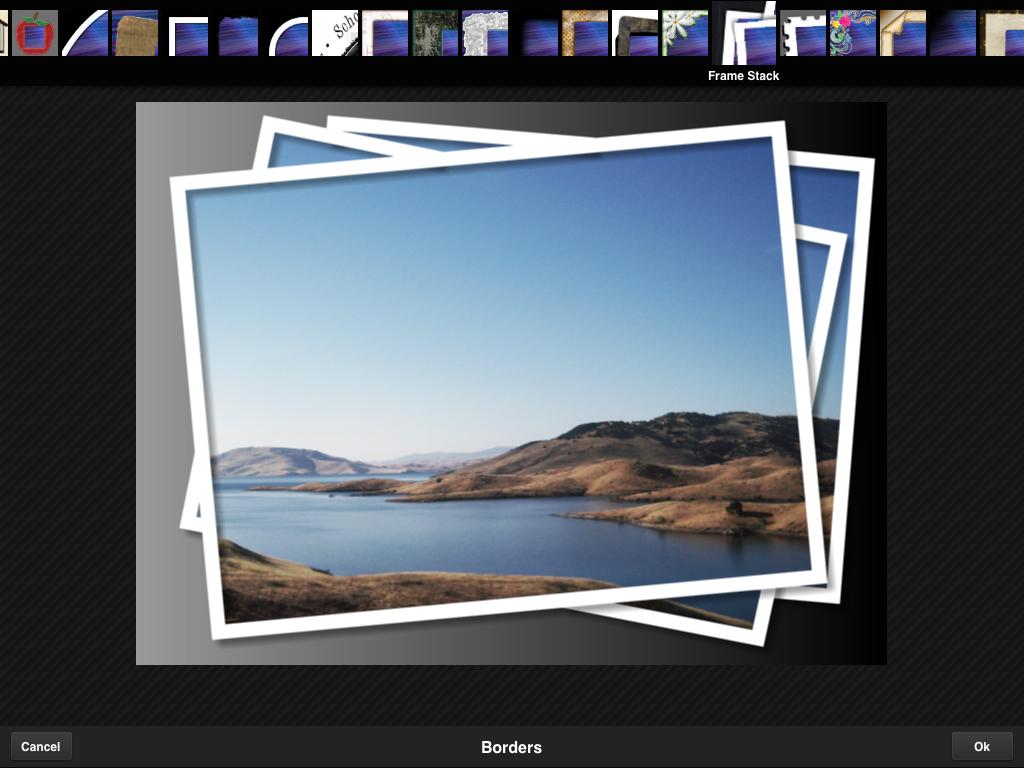 Borders no Photoshop Express