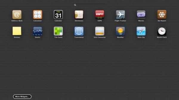 Dashboard do OS X Mountain Lion