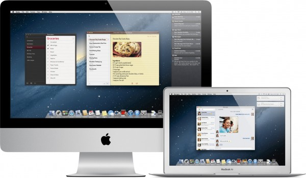iMac e MacBook Air com o OS X Mountain Lion