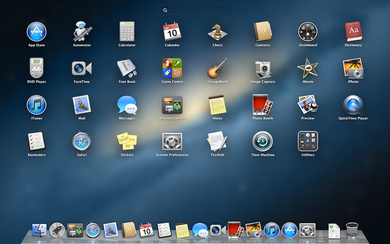 Launchpad do OS X Mountain Lion