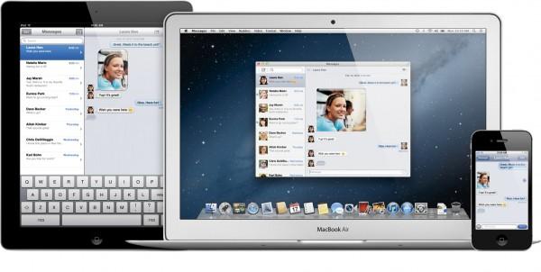 Messages no iPad, iPhone e MacBook Air com o OS X Mountain Lion