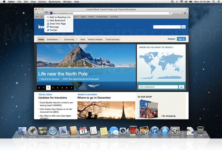 Safari no OS X Mountain Lion