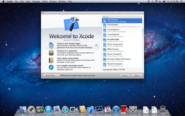 Xcode 4.3 no Mac OS X