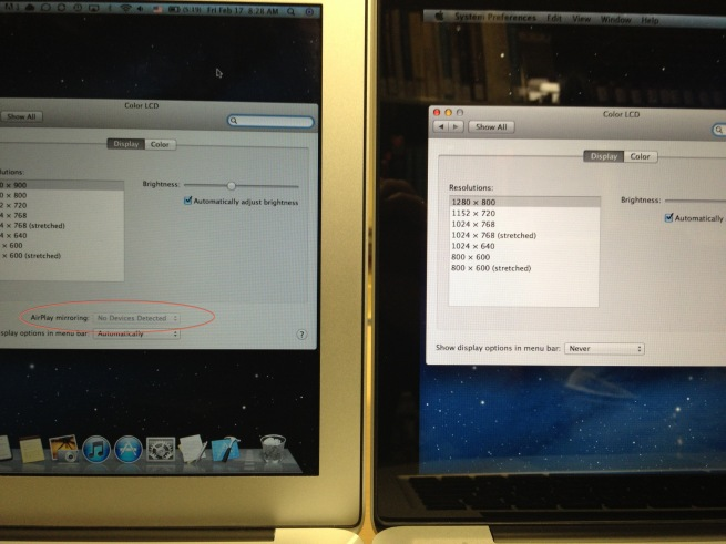 AirPlay Mirroring - OS X Mountain Lion