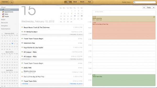Calendário - OS X Mountain Lion