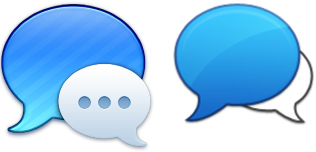 Ícones - Messages vs. HipChat