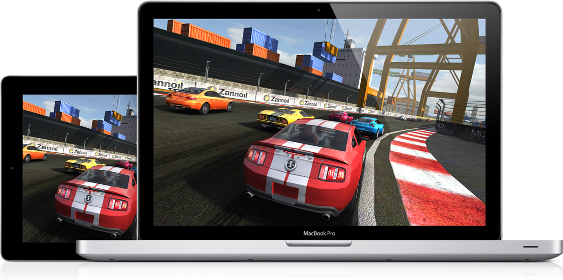 Real Racing 2 no iPad e no Mac - OS X Mountain Lion