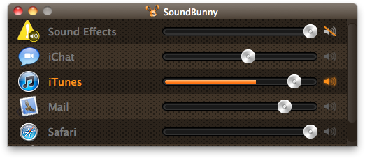 SoundBunny - Mac OS X