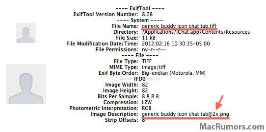 Arquivos preparados para tela Retina no Messages