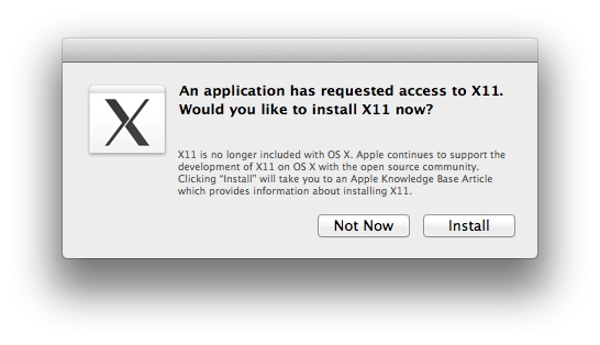 X11 - OS X Mountain Lion