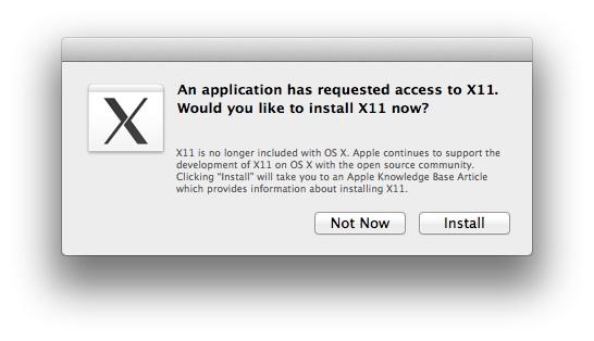 X11 - OS X Mountain Lion