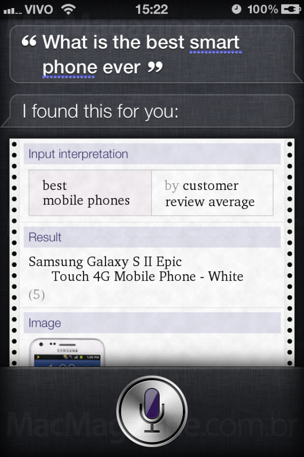 Best smartphone - Siri