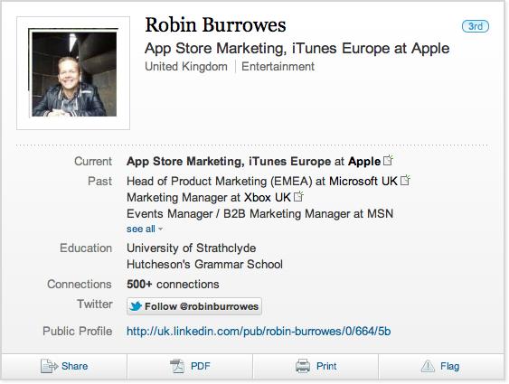 LinkedIn - Robin Burrowes
