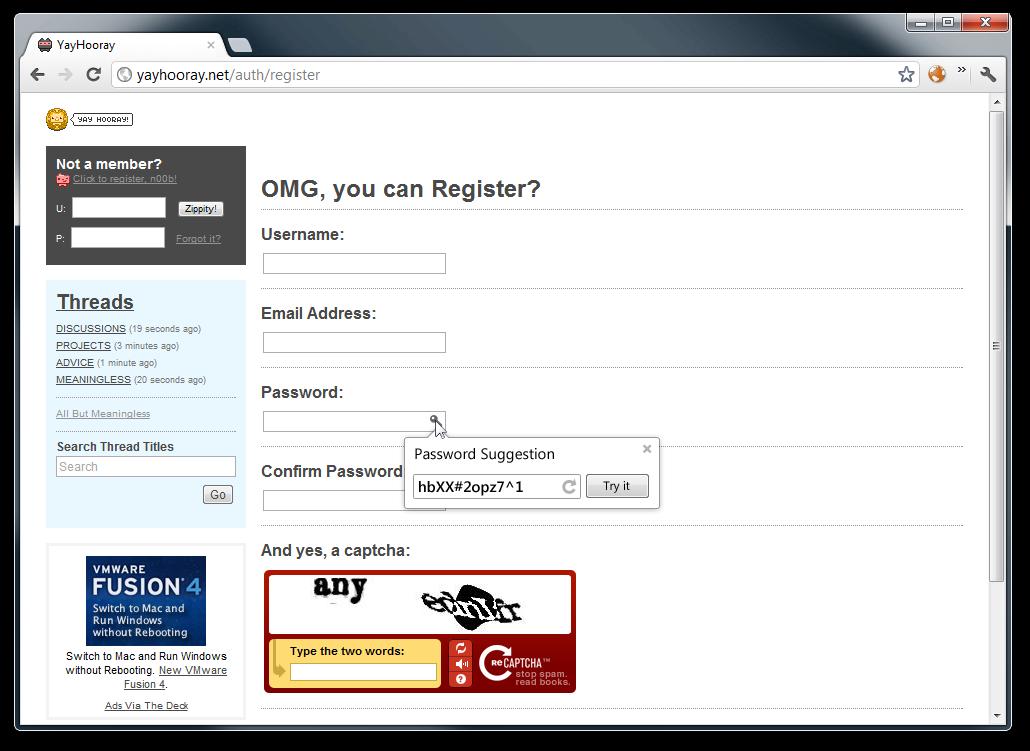 Password generator no Google Chrome