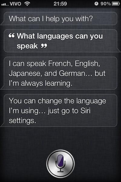 Siri - Japonês