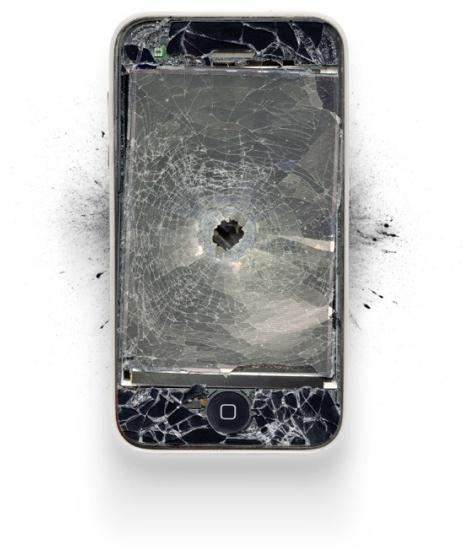 iPhone com um tiro
