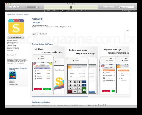 iCashBook no iTunes - cópia