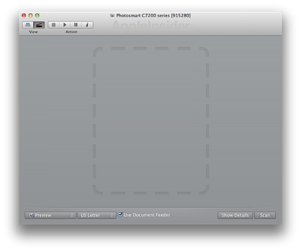 Scanner - OS X Mountain Lion
