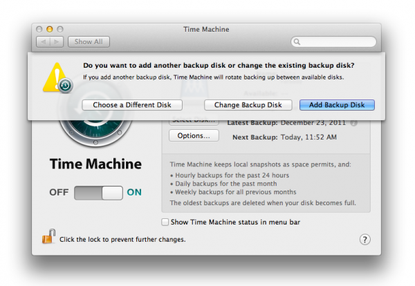 Time Machine - OS X Mountain Lion