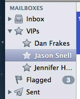 VIPs no Mail - OS X Mountain Lion