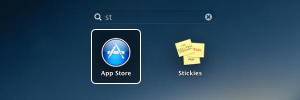 Busca do Launchpad no OS X Mountain Lion