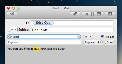 Busca inline do Mail no OS X Mountain Lion