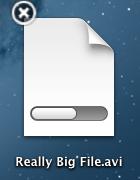 Progresso de uma transferência no OS X Mountain Lion