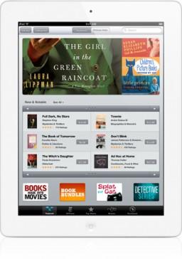 iBookstore num iPad branco