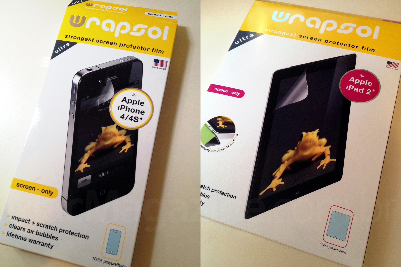 Películas Wrapsol Ultra para iPhone e iPad