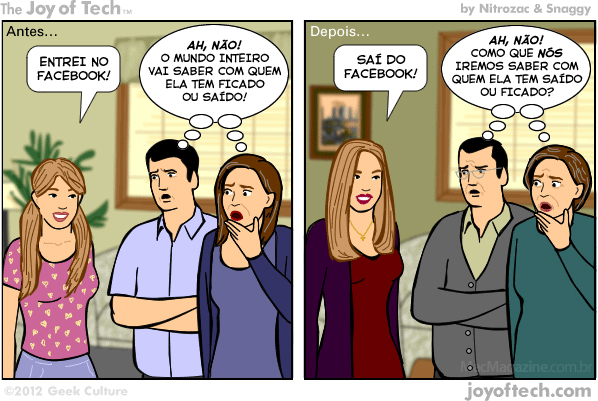 Joy of Tech - Facebook, o maior pesadelo dos pais