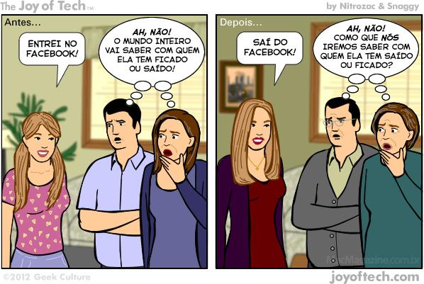 Joy of Tech - Facebook, o maior pesadelo dos pais