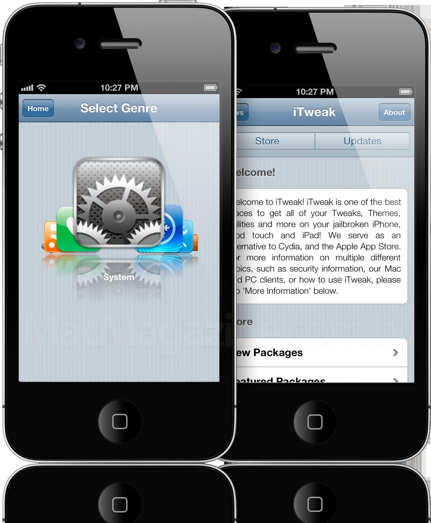 iTweak Store em iPhones