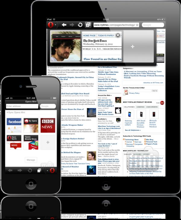 Opera Mini - iPad e iPhone