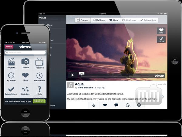Vimeo - iPad e iPhone