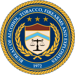 Logo/brasão da ATF - Bureau of Alcohol, Tobacco and Firearms and Explosives