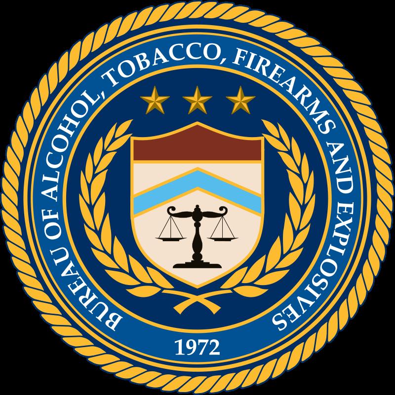 Logo/brasão da ATF - Bureau of Alcohol, Tobacco and Firearms and Explosives