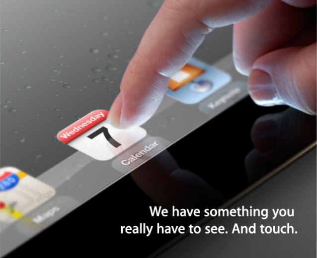 Convite para lançamento do novo iPad - Apple