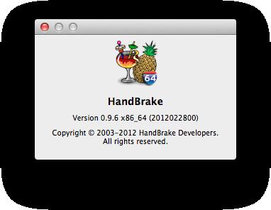 HandBrake 0.9.6