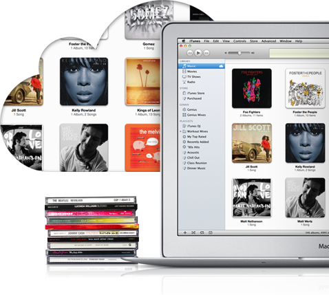 iTunes Match em MacBook Air, de lado
