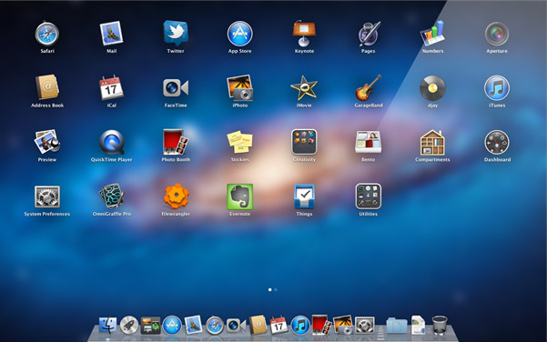Launchpad no OS X Lion