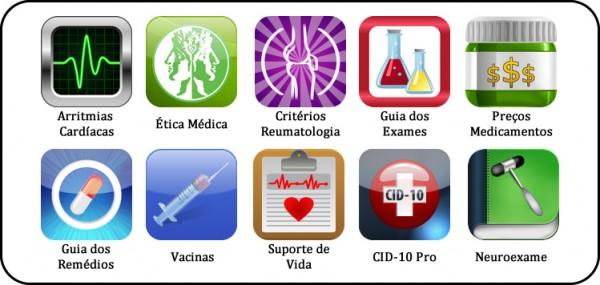 Dez aplicativos da MedPhone