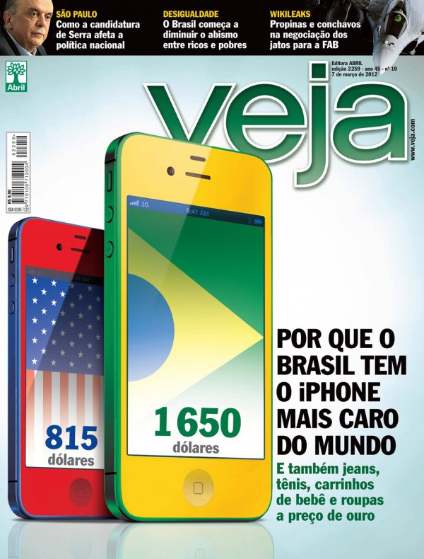 iPhone mais caro do mundo - capa da VEJA