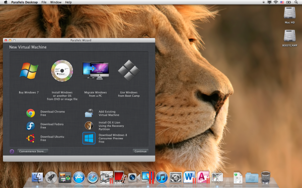 Parallels Desktop 7 com Windows 8 e OS X Mountain Lion