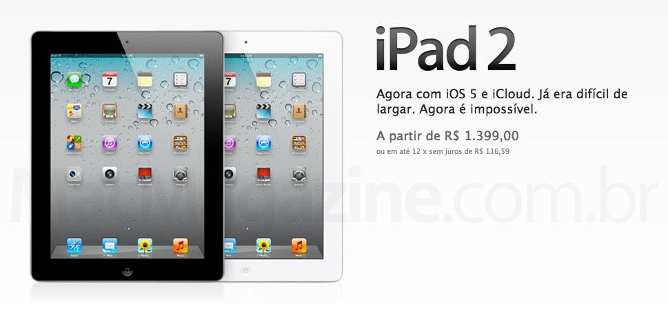 iPad 2 mais barato no Brasil