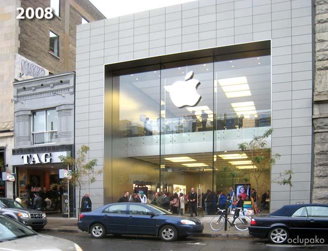 Loja da Tag ao lado de Apple Store