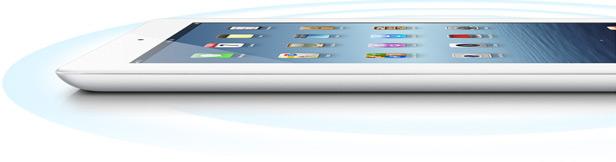 Novo iPad com conectividade (4G), de lado