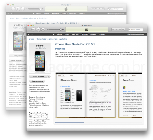iOS 5.1 User Guides para iPhone e iPod touch